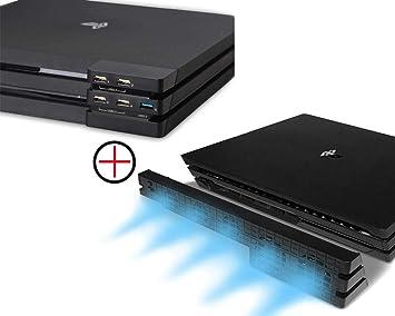 PeakLead PS4 Pro Ventilador de refrigeración & 5-Port USB Hub ...