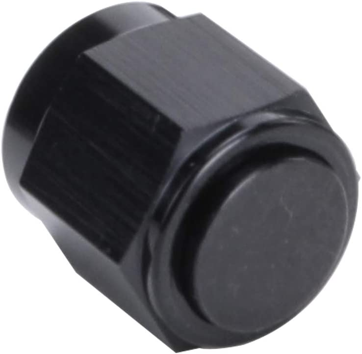 3AN AN3 Flare Cap For Hose Thread Hex Head Port Fitting Black Aluminum Swivel Female