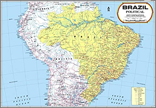 the map of brazil Buy Brazil Map Book Online At Low Prices In India Brazil Map the map of brazil