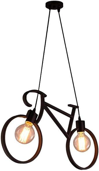 Araña de luces Lámpara colgante de bicicleta creativa simple ...