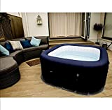 Outdoor Bluetooth Portable Massage Hot Tub 6 Person Water Pool Floats Digital Spa Inflatable Bubble Jet Therapy With Music Center + 6 Filters + Cleaning Set - Skroutz