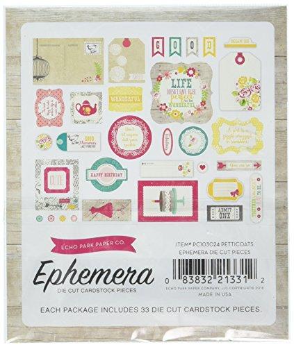 Echo Park Paper Company PC103024 Girl Petticoats & Pinstripes Ephemera
