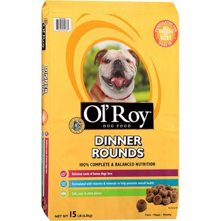 Ol' Roy Dinner Rounds Dry Dog Food, 15-Pound (Dinner Rounds)