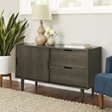 Better Homes and Gardens Flynn Mid Century Modern Credenza, Smoke Gray