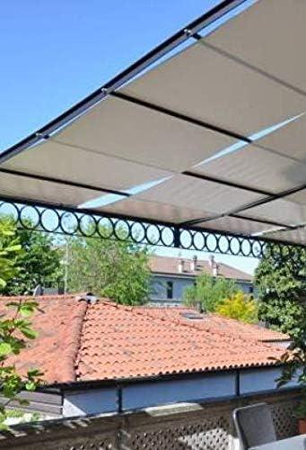 Tuttopergole - Lona de protección con Cinta de PVC microperforada para pérgola, cenador de jardín de Metal: Amazon.es: Jardín