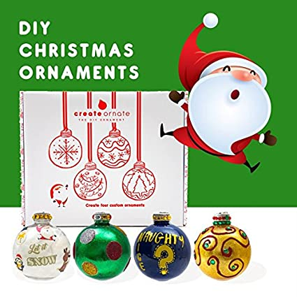 diy ornaments 4 pack holiday ornaments set easy to use custom christmas decorations - Easy Christmas Tree Decorations
