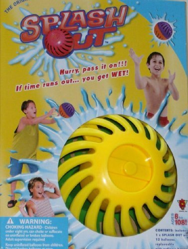 Splash Out Water Game PASS IT ON Wet Balloon Fun, Colors Vary by Big Time Toys