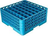 Carlisle  (RG49-314) OptiClean 49-Compartment Glass Rack w/3 Extenders Blue [Set of 2]