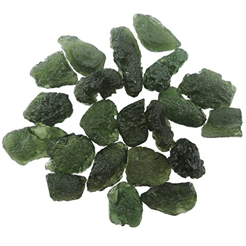 Healing Crystals India Genuine Moldavite Tektite Meteorites Crystals Healing Stones Suitable For Ring Pendant Reiki Crystal Jewelry Necklace Bracelet Earring From Czech Republic 12-15 Carats - 1 ()