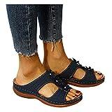 Dainzusyful - Sandalias de verano para mujer, con puntera abierta, transpirables, para playa, zapatos de viaje