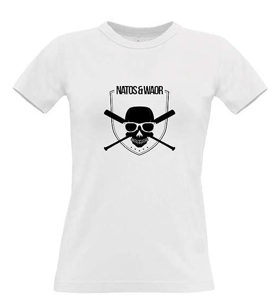 Camiseta mujer blanca Natos & Waor algodón 190 grs ...