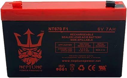 UPG UB670 6V 7AH Sealed Lead Acid Battery//6V 12V SLA BATTERY CHARGER