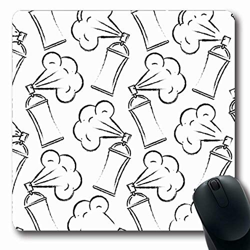 Ahawoso Mousepads for Computers Silver Air Spray Canister Painting Graffiti Creativity Creative Aerosol Aluminum Bottle Can Cap Oblong Shape 7.9 x 9.5 Inches Non-Slip Oblong Gaming Mouse Pad