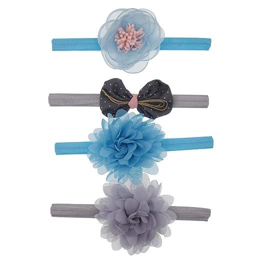 1x Baby Kids Girl Bowknot Stars Headbands Headwear Elastic Hair Band ZB