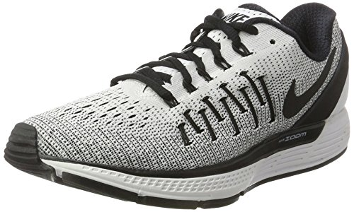 Nike Wmns Air Zoom Odyssey 2 - Scarpe Running Donna, Bianco (White/black), 39 EU