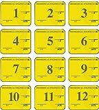 Yellow 12 Mo Biomed Equipment Inspection Kit, 1-1/4'' x 1''