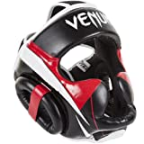 Venum 0987 Elite Headgear, Black/Red/Grey, One Size