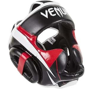 Venum Elite Headgear, Black/Red/Grey, One Size