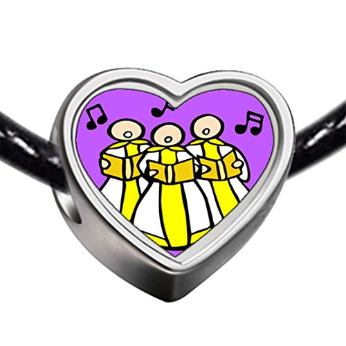 GiftJewelryShop Silver Plated Religion Christian Church Choir Photo Heart Charm Bracelets