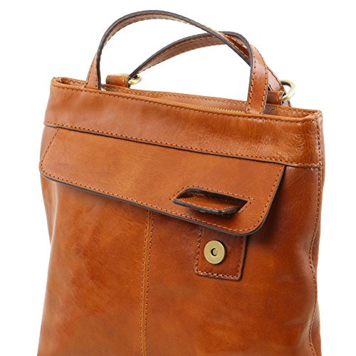 81414774 - TUSCANY LEATHER: MARTINA - Sac en cuir convertible en sac à dos, Rouge