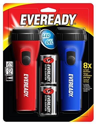 Energizer EVEL152S Eveready LED Economy Flashlight 2 Count