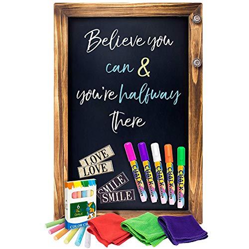 Wood Frame Chalkboard Magnetic Porcelain - Shefio Large Framed Chalkboard Sign -