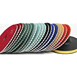 4 Diamond Polishing Pads Wet/Dry Set of 9+1 Backer Pad FREE SHIP Best Value Concrete Marble Travertine granite Terrazzo Engineer Stone counter top floor renew glass onxy by Asia Pacific Construction