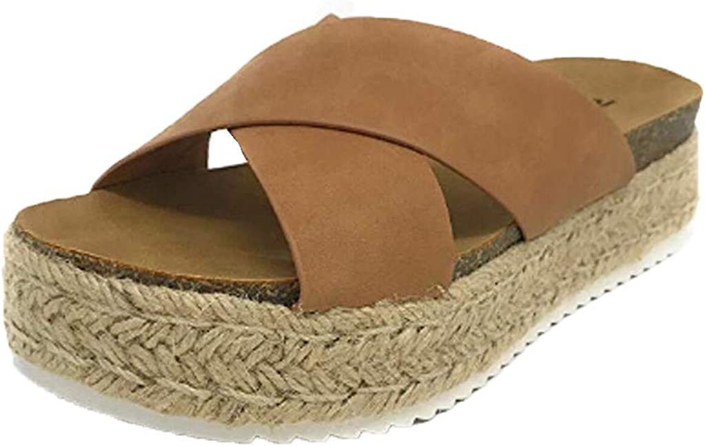 Casual Women Slippers Rubber Sole Flatform Beach Shoes Summers Open Toe Sandals