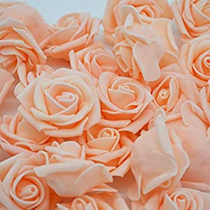 ARISLUX Ball Foam - 4cm 30pcs/lot Big Pe Foam Rose Artificial Flower Head Home Wedding Decoration DIY Scrapbooking Wreath Fake Decorative Rose 89