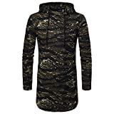 Clearance Sale!! Men's Blouse- Farjing Men's Casual Ripped Solid Long Sleeve T-shirt Top Blouse(2XL,Army Green)