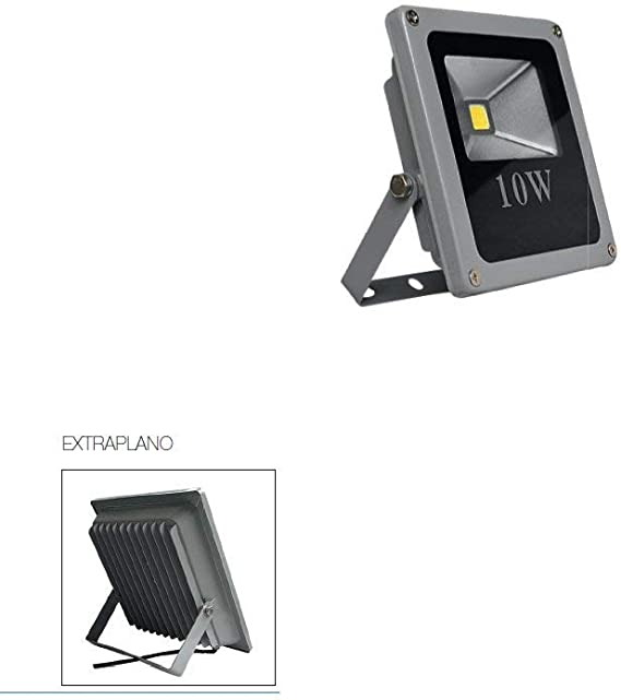 CristalRecord Proyector LED Extraplano para Exterior, 10 W, Gris ...