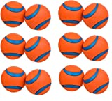(6 Pack) ChuckIt Medium Ultra Balls 2.5-Inch (each Pack Contains 2 Balls / 12 Balls Total)