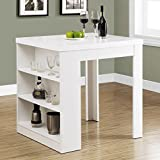 Monarch Hollow-Core Counter Height Table, 32 by 36-Inch, White