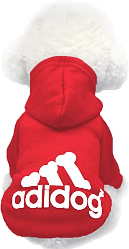 Moolecole Adidog Pet Dog Hooded Clothes