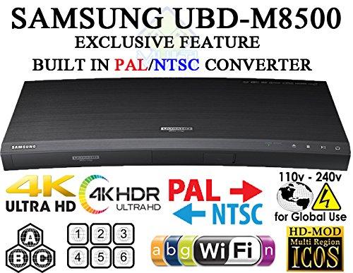 SAMSUNG M8500 UHD - Wi-Fi - 2K/4K - Region Free Blu Ray Disc DVD Player - 2nd Gen 4K Multi System Player 100-240V 50/60Hz