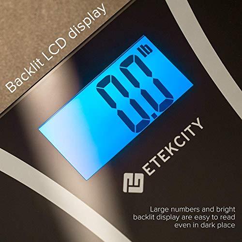 Etekcity Bathroom Scale with Technology, Tape Included, Elegant Black