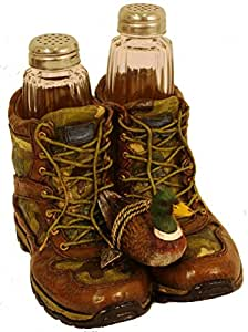 Camo Hunting Boots Salt & Pepper Shaker Set