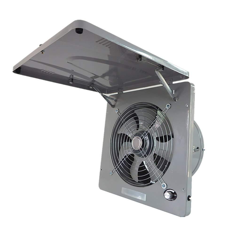 Tutto in metallo Estrattore Ventilatore 13 INCH aria ventilatore di scarico Interruttore di velocit/à continuo,Darkgray 220V aspiratore da cucina potente Aspiratore Aria da Parete