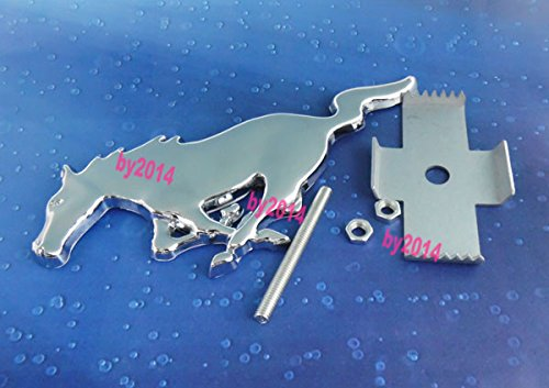 Auto Metal chrome Running Horse for Mustang Front Grille Grill Badge Emblem 02