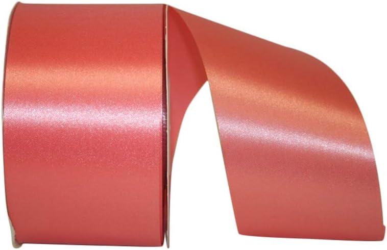 Reliant Ribbon Satin Supreme Ribbon, 2-1/2 Inch X 50 Yards, Coral