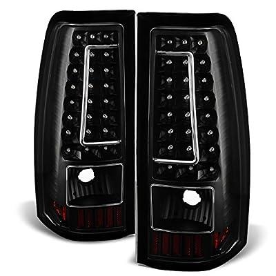 03-06 Chevy Silverado 04-06 GMC Sierra Pickup Truck Black G2 LED Tail Lights Brake Lamps Replacement