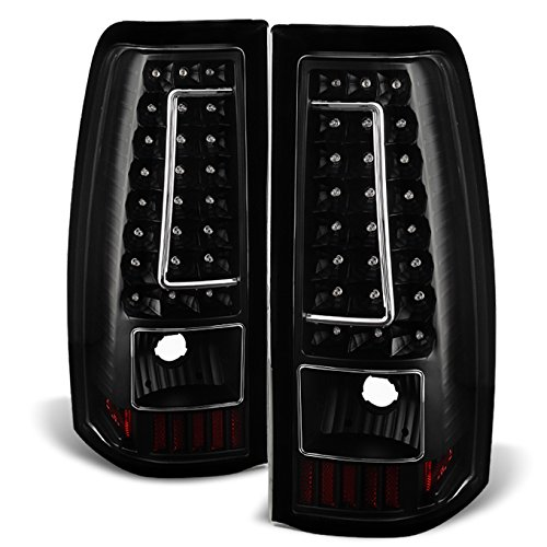 03-06 Chevy Silverado 04-06 GMC Sierra Pickup Truck Black G2 LED Tail Lights Brake Lamps Replacement (Light 04 Tail 06 05)