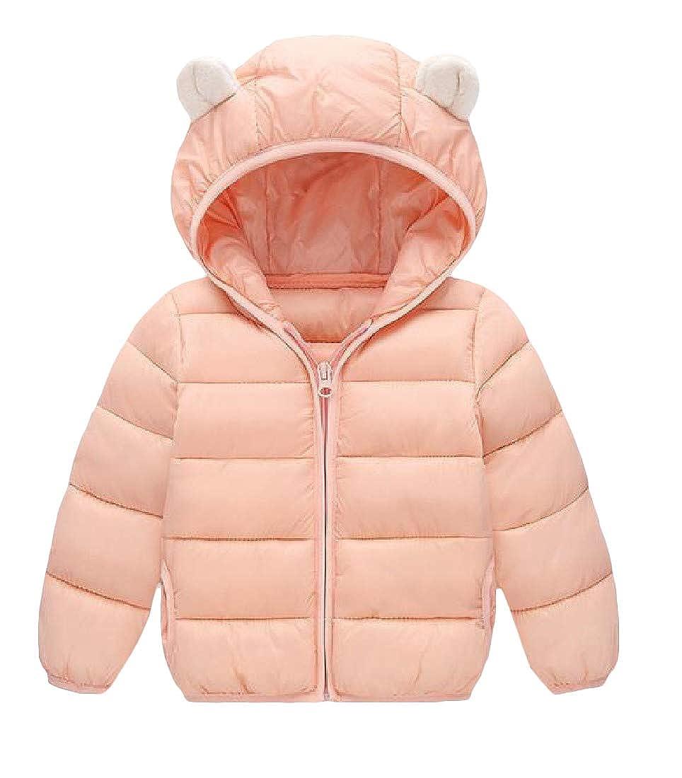 Pcutrone Girls Outwear Bubble Zip-Up Boys Hooded Outwear Down Coat Jacket