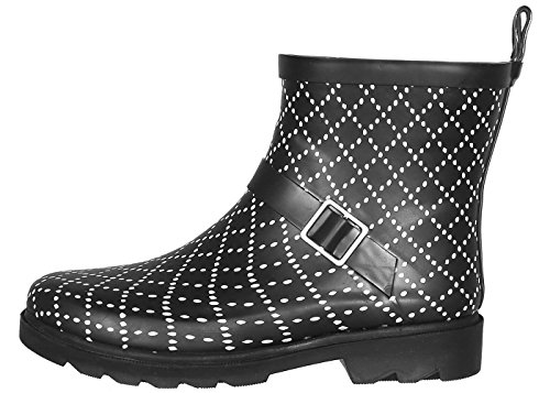 Rainboots Short York New Lined Sporty Capelli Ladies Black tYqwx7S