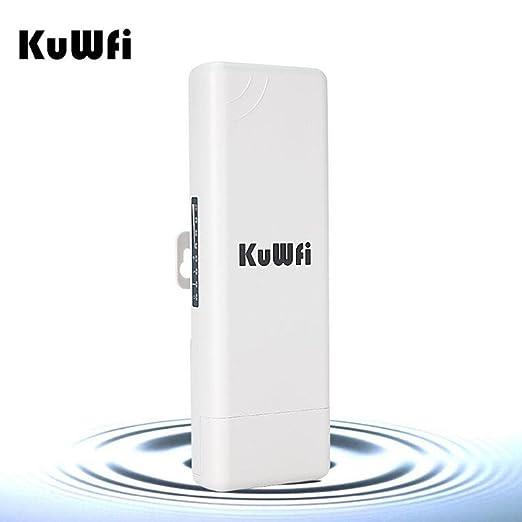 KuWFi Router Sin Hilos Al Aire Libre Al Aire Libre Del CPE Del Punto De Acceso WIFI De La Distancia 150Mbps Al Aire Libre Al Aire Libre Del CPE De 2KM: ...
