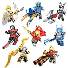 8pcs/set Three Kingdoms Glory Building Blocks Bricks Figures Set Model Toys