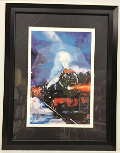 Harry Potter Poster Hogwart's Express Fine Art Giclee Lithograph FRAMED SIGNED by artist Salvati with C Of A Limited Edition