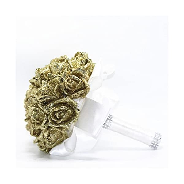 YJYdada-Artificial-Flower-Crystal-Roses-Pearl-Bridesmaid-Wedding-Bouquet-Bridal-Artificial-Silk-Flowers-De