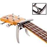 Takit Guitar Capo For Acoustic And Electric Guitar - Also For Ukulele, Banjo And Mandolin - Single-Handed Professional High Performance Trigger Action Style Built Of Zinc Alloy - Black
