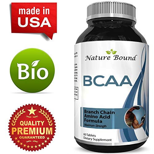 Nature Bound's BCAA Branched Chain Amino Acids Supplement Natural Muscle Builder Pure Energy Booster and Workout Exercise Support for Men and Women Boost Recovery L-Leucine L-Valine 60 Tablets Review